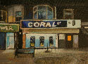 Coral betting shop in Great Yarmouth painted by artist Jane Hall