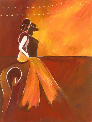 Flamenco dancer painting by Jane Hall